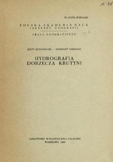 Hydrografia dorzecza Krutyni = Die Hydrographie des Krutyniaflussgebietes = Gidrografija bassejna Krutyni