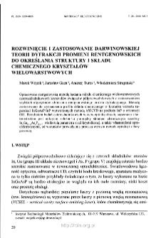 Rozwinięcie i zastosowanie darwinowskiej teorii dyfrakcji promieni rentgenowskich do określania struktury i składu chemicznego kryształów wielowarstwowych
