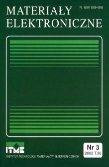 Spis treści 2002 T.30 nr 3