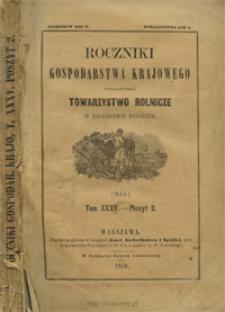 Roczniki Gospodarstwa Krajowego T. 35 z. 2 (1859)