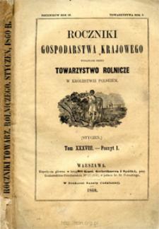 Roczniki Gospodarstwa Krajowego T. 38 z. 1 (1860)