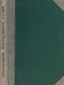 Sprawozdanie z badań przeprowadzonych w 1955 r. na terenie osady kultury ceramiki promienistej w Brzeziu w pow. Bochnia