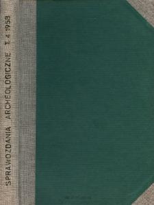 Sprawozdanie z badań w r. 1955 na terenie grodziska w Poznachowicach Górnych, pow. Myślenice