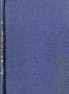 Sprawozdania Archeologiczne T. 7 (1959), Spis treści