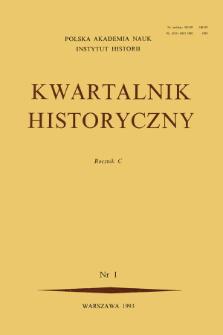 Kwartalnik Historyczny R. 100 nr 1 (1993), Strony tytułowe, spis treści
