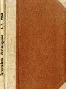 Sprawozdanie z prac ratowniczo-badawczych, prowadzonych w 1958 r. w Strzyżowie, pow. Hrubieszów