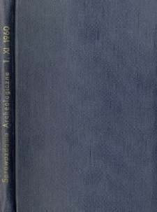 Sprawozdanie z badań wykopaliskowych w Kruszwicy w latach 1956 i 1957