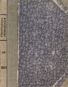Badania archeologiczne w Roztoczu Lubelskim w 1959 r.
