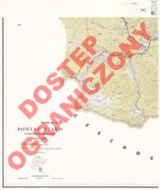 Powiat Lesko : województwo rzeszowskie : skala 1:25 000