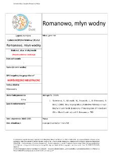 Romanowo, watermill