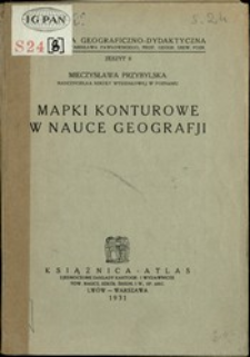 Mapki konturowe w nauce geografji