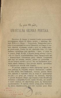 Kwartalna kronika paryska
