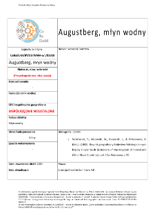 Augustberg, watermill