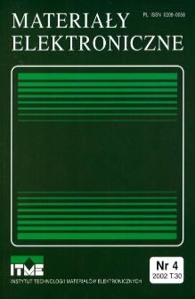 Spis treści 2002 T.30 nr 4 = Contents 2002 T.30 nr 4