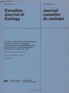 Description, relationships, and host symptoms of Ditylenchus dryadis n.sp. (Nematoda: Tylenchidae) from the Canadian High Arctic, a transitional species of gall-forming parasite attacking Dryas integrifolia M. Vahl