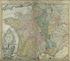 Regni Galliae seu Franciae et Navarrae Tabula Geographica in usum Elementorum Geographiæ Schazianorum accom[m]odata
