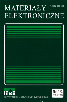 Spis treści 2005 T.33 nr 1/4 = Contents 2005 T.33 nr 1/4