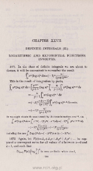 Definite integrals (II.). Logarithmic and exponential functions involved