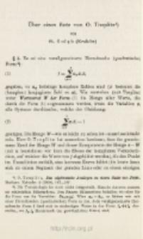 Über einen Satz von O. Toeplitz