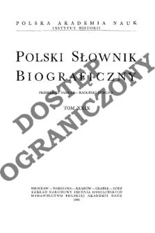 Polski słownik biograficzny T. 29 (1986), Przerębski Samuel - Raduński Edmund, Część wstępna