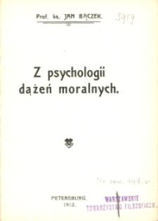 Z psychologii dążeń moralnych