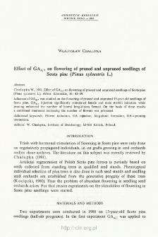 Effect of GA 4/7 on flowering of pruned and unpruned seedlings of Scots pine (Pinus sylvestris L.)