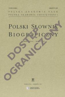 Polski słownik biograficzny T. 53 (2019- ), Teodorowicz Feliks - Tetera Paweł