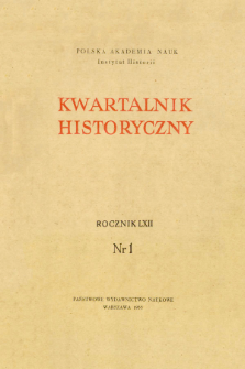 Kwartalnik Historyczny R. 62 nr 1 (1955), Dyskusje i polemiki