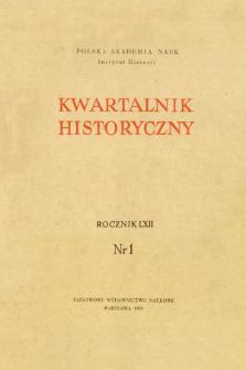 Kwartalnik Historyczny R. 62 nr 1 (1955), Życie naukowe w kraju