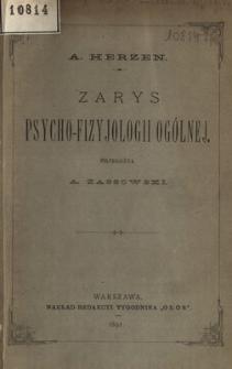 Zarys psycho-fizyjologii ogólnej
