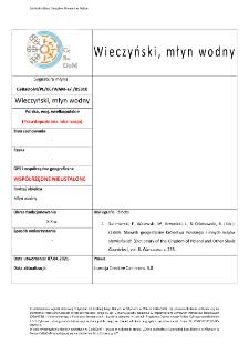 Wieczyński, watermill