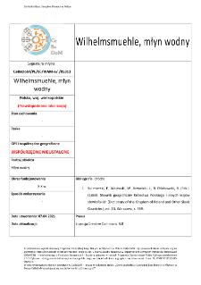 Wilhelmsmuehle, watermill