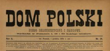Dom Polski : pismo beletrystyczne i naukowe 1889 N.34
