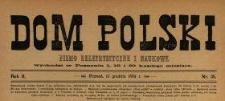 Dom Polski : pismo beletrystyczne i naukowe 1889 N.35
