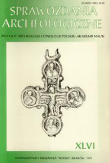 Sprawozdania Archeologiczne T. 46 (1994), Omówienia i recenzje