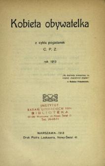 Kobieta obywatelka : z cyklu pogadanek C. P. Z. : rok 1913