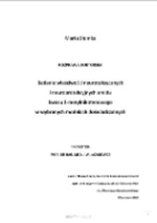 Badanie właściwości neurotoksycznych i neuroprotekcyjnych amidu kwasu 1-metylinkotynowego w wybranych modelach doświadczalnych