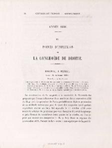 POINTS D'INFLEXION DE LA CONCHÏ DE DE DROITE- Roberval à Fermat > 22 novembre 1636.