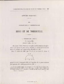 EXTRAITS DE LA CORRESPONDANCE DE RICCI ET TORRICELLI - Torricelli à Ricci > 17 décembre 1644.