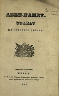 Aben- Hamet : dramat we czterech aktach