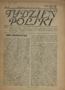 Tydzień Polski : tygodnik polityczno-społeczny : wychodzi w sobotę 1923 N.3