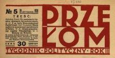Przełom : tygodnik polityczno-społeczny 1928 N.5