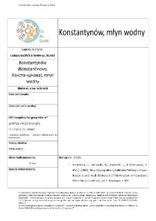 Konstantynów (Konstantinovo, Канстанцінава), watermill