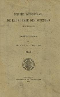 Bulletin International de L' Académie des Sciences de Cracovie : comptes rendus