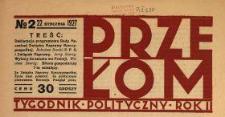 Przełom : tygodnik polityczno-społeczny 1927 N.2