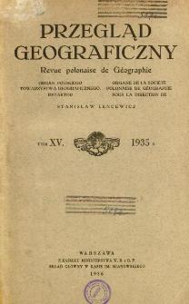 Przegląd Geograficzny T. 15 (1935)