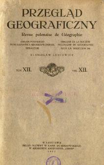 Przegląd Geograficzny T. 12 (1932)