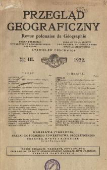 Przegląd Geograficzny T. 3 (1922)