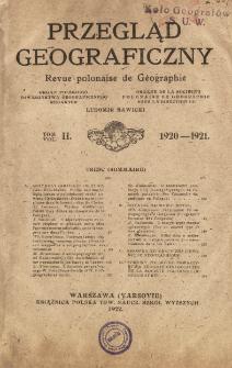 Przegląd Geograficzny T. 2 (1920-1921)