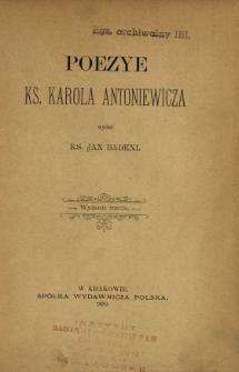 Poezye ks. Karola Antoniewicza